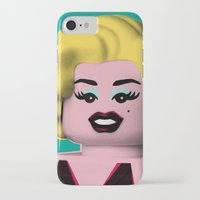 marilyn iPhone & iPod Cases featuring Marilyn by powerpig