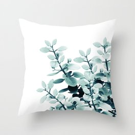 Eucalyptus Leaves Green Vibes #2 #foliage #decor #art #society6 Throw Pillow