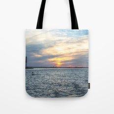 Sunset at Long Beach Island Tote Bag