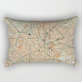 Vintage Map of Milan Italy (1911) Rectangular Pillow