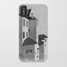Castle in the Sky | Black & White iPhone X Slim Case