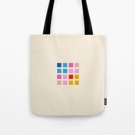 Retro Squares 01 Tote Bag