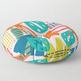 Fresh jungle scene Floor Pillow