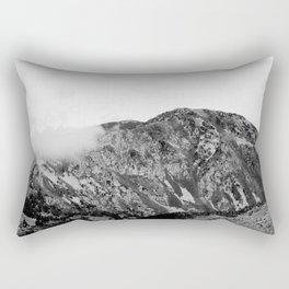 Mountain Clouds // Black & White Edition Rectangular Pillow