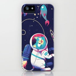 The Adventures of Space Cat iPhone Case