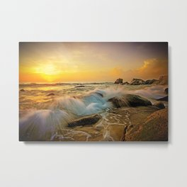 VIVID SUNSET SEASCAPE Metal Print