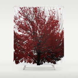 Tree on Canvas Shower Curtain