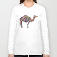 camel Long Sleeve T-shirts featuring Camel by Green Girl Canvas