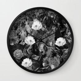 Watercolors Floral Pattern Wall Clock