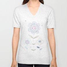Flowers Unisex V-Neck