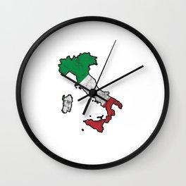 Patriotic Italy Flag Patriot Italian Nationalism Wall Clock