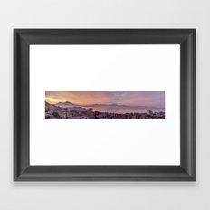 Napoli, landscape with volcano Vesuvio and sea Framed Art Print