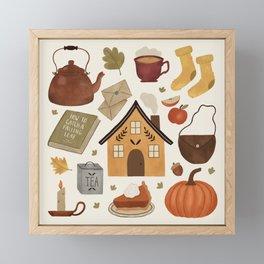Autumn Cottage Days Framed Mini Art Print