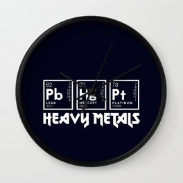 Heavy Metals Wall Clock