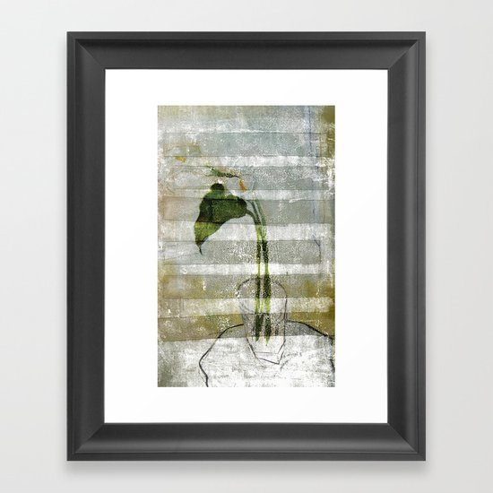 the arum Framed Art Print