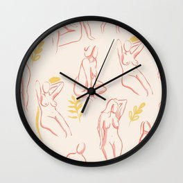 Women bodies Wall Clock