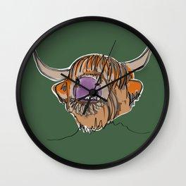 Highland Cow Wall Clock