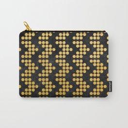 Gold ARROW , Mudcloth Arrow Design, Modern Design 2 Carry-All Pouch
