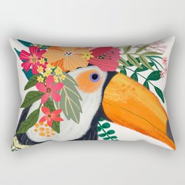 Toucan with flowers on head Rectangular Pillow