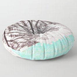 Glitch in the Forest Floor Pillow