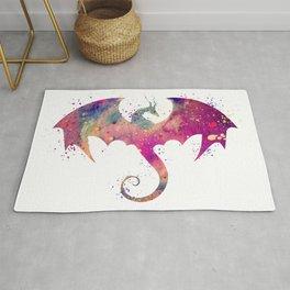 Dragon Art Watercolor Print Dragon Nursery Decor Home Decor Dragon Poster Purple Kids Room Decor Rug