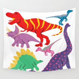 Dinosaur Domination - Light Wall Tapestry