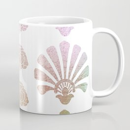 Ombre Art Deco pattern, palm tree pattern, metallic shine, pastel colors, vintage,belle epoque,elega Coffee Mug