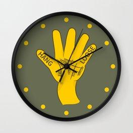 Palmistry Hang Loose Shaka Sign Wall Clock