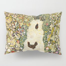 Gustav Klimt Garden Path With Chickens Pillow Sham