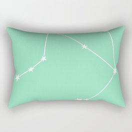 Libra (White & Mint Sign) Rectangular Pillow