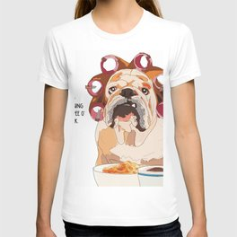 English Bulldog-Good Morning.  It's pee o'clock. T-shirt