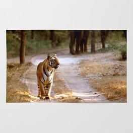TIGER ON TRACK Rug