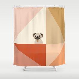 Little_PUG_LOVE_Minimalism_001 Shower Curtain