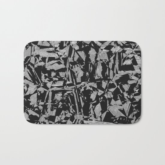 Black - Silver - Crazy Bath Mat