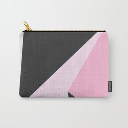 Abstract geometrical pastel pink black triangles Carry-All Pouch