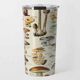Mushrooms Vintage Scientific Illustration French Language Encyclopedia Lithographs Educational Travel Mug
