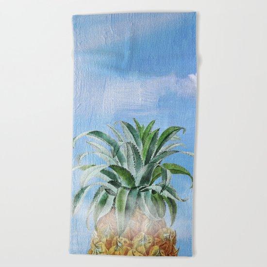 Pineapple Heaven Beach Towel