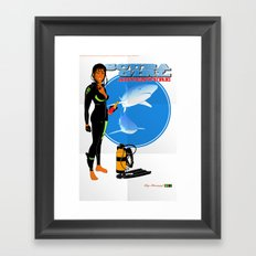 Scuba Girl - Adventure Poster Edition Framed Art Print