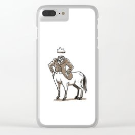 Headless Dressage Clear iPhone Case