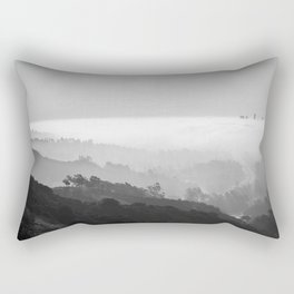 Above The Clouds | Los Angeles | Black & White Rectangular Pillow