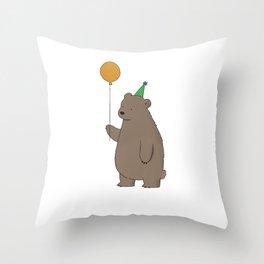Bear Party Throw Pillow