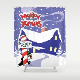 Christmas in North Pole Shower Curtain