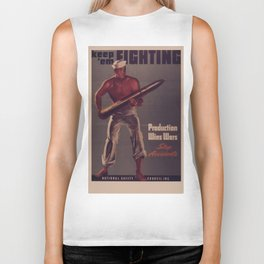 Vintage poster - Keep 'Em Fighting Biker Tank