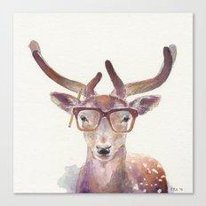 Study Deer Canvas Print