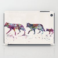 wolves iPad Cases featuring Wolves by Watercolorist