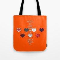 scott pilgrim Tote Bags featuring Scott Pilgrim vs. The World - Kim by MacGuffin Designs