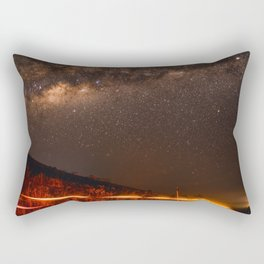 The Red Sky Road (Color) Rectangular Pillow