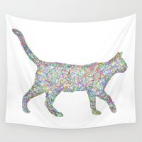 cat coquillette Wall Tapestries featuring Cat by David Zydd