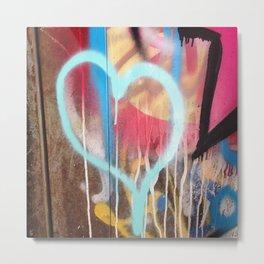 Graffiti My Heart Metal Print