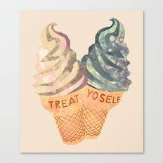 Treat Yo' Self Canvas Print